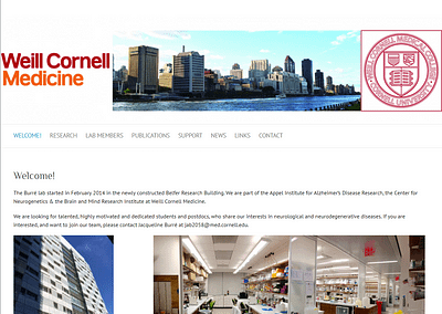 Research Technician 채용안내 (Weill Cornell; Dr. Jacqueline Burre Lab)